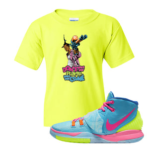 Kyrie 6 Pool Kids T-Shirt | Dont Hate the Player, Safety Green