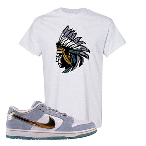 Sean Cliver x SB Dunk Low T Shirt | Indian Chief, Ash
