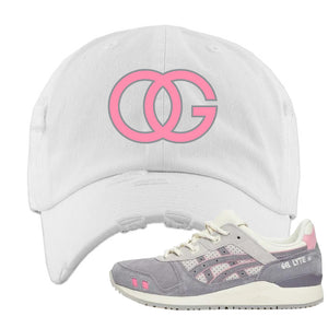 END x Asics Gel-Lyte III Grey And Pink Distressed Dad Hat | OG, White