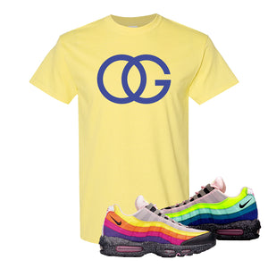Airmax 95 '20 For 20' Sneaker Cornsilk T Shirt | Tees to match Nike Airmax 95 '20 For 20' Shoes | OG