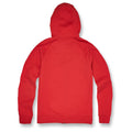 the red zip-up fleece jordan craig hoodie has a red hood