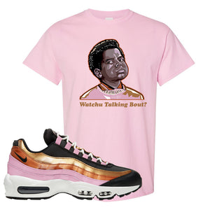 Air Max 95 WMNS Copper and Gold T Shirt | Watchu Talkin Bout, Light Pink