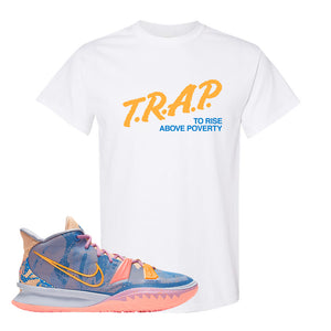 Kyrie 7 Expressions T-Shirt | Trap To Rise Above Poverty, White