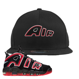 Air More Uptempo Laser Crimson Air From The Sneaker Black Sneaker Hook Up Snapback Hat