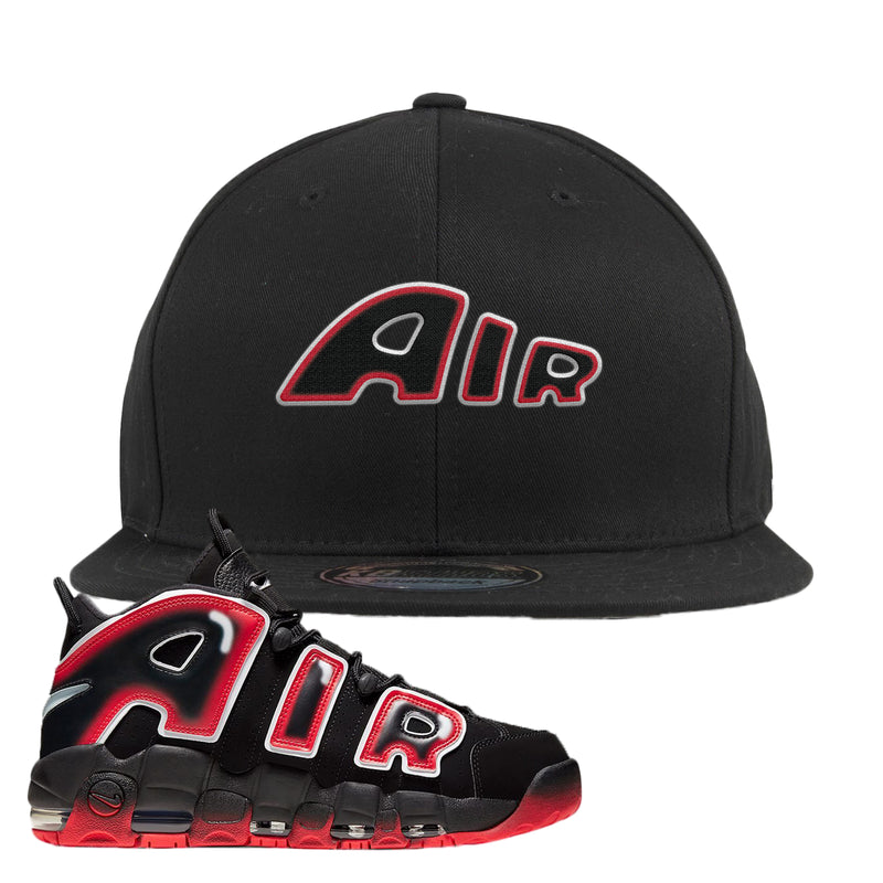 Air More Uptempo Laser Crimson Snapback Hat | Black, Air From The Sneaker