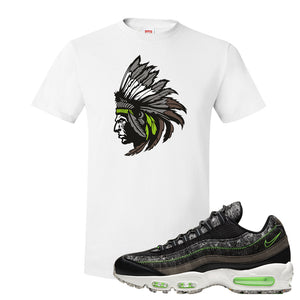 Air Max 95 Black / Electric Green T Shirt | Indian Chief, White