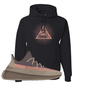 Yeezy 350 v2 Ash Stone Hoodie | All Seeing Eye, Black