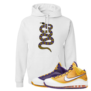 Lebron 7 'Media Day' Hoodie | White, Coiled Snake