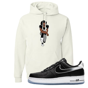 Colin Kaepernick X Air Force 1 Low Kaepernick Fist Kneeling White Sneaker Hook Up Pullover Hoodie