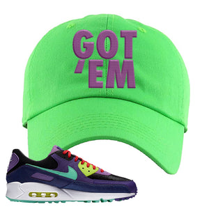 Air Max 90 Cheetah Dad Hat | Got Em, Neon Green