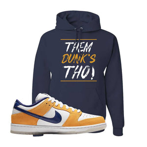 SB Dunk Low Laser Orange Hoodie | Navy, Them Dunks Tho