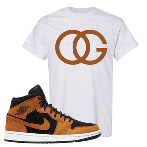 Air Jordan 1 Mid Wheat T Shirt | OG, Ash