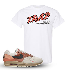 Air Max 1 Amsterdam City Pack T Shirt | White, Trap To Rise Above Poverty