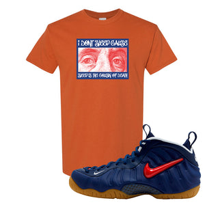 Air Foamposite Pro USA T Shirt | Texas Orange, Franklin Eyes