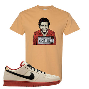 SB Dunk Low Muslin T Shirt | Escobar Illustration, Old Gold
