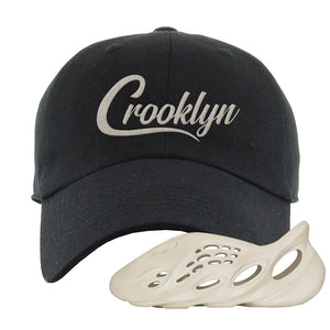 Yeezy Foam Runner Sand Dad Hat | Crooklyn, Black