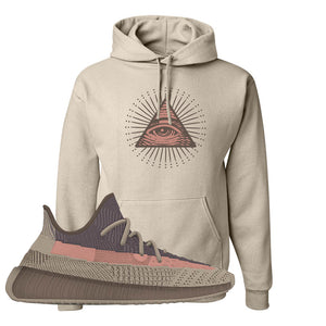 Yeezy 350 v2 Ash Stone Hoodie | All Seeing Eye, Sand