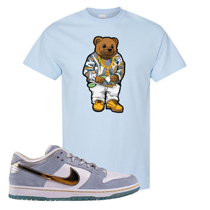 Sean Cliver x SB Dunk Low T Shirt | Sweater Bear, Light Blue