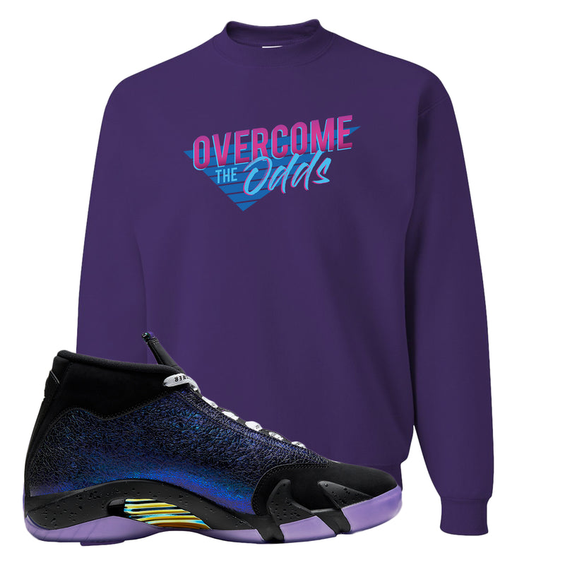 Jordan 14 Doernbecher Crewneck Sweatshirt | Purple, Overcome The Odds