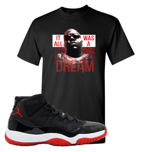 Jordan 11 Bred It Was All A Dream Black Sneaker Hook Up T-Shirt