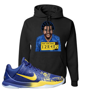Kobe 5 Protro 5 Rings Hoodie | Escobar Illustration, Black
