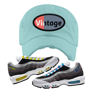 Air Max 95 QS Greedy Distressed Dad Hat | Mint, Vintage Oval