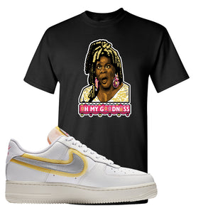 Air Force 1 Low 07 LX White Gold T Shirt | Oh My Goodness, Black