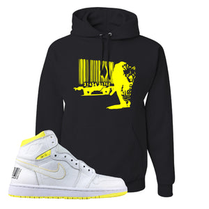Air Jordan 1 First Class Flight Barcode Leopard Black Sneaker Matching Pullover Hoodie