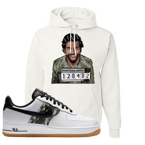 Air Force 1 Low Camo Hoodie | Escobar Illustration, White