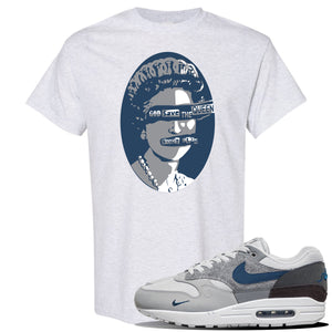 Air Max 1 'London City Pack' Sneaker Ash T Shirt | Tees to match Nike Air Max 1 'London City Pack' Shoes | God Save the Queen