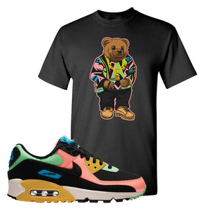 Furry Air Max 90 Bright Neon T Shirt | Sweater Bear, Black