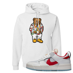 Dunk Low Disrupt Gym Red Hoodie | Sweater Bear, White