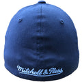the back of the Philadelphia Union stretch fit cal is the Mitchell and Ness logo embroidered in light blue