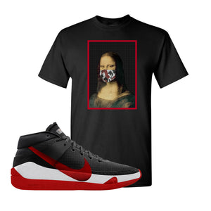 KD 13 Bred T-Shirt | Mona Lisa Mask, Black