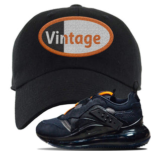 Air Max 720 OBJ Slip Sneaker Black Dad Hat | Hat to match Nike Air Max 720 OBJ Slip Shoes | Vintage Oval