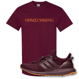 Homecoming Maroon T-Shirt to match Ivy Park X Adidas Ultra Boost Sneaker