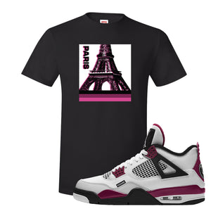 Air Jordan 4 PSG Paname T-Shirt | Paris Pop Art, Black