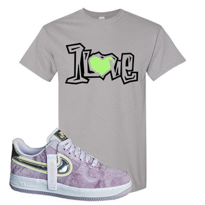 Air Force 1 P[her]spective T Shirt | Gravel, 1 Love