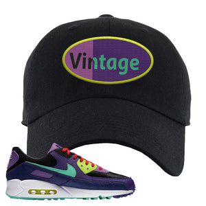 Air Max 90 Cheetah Dad Hat | Vintage Oval, Black