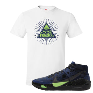 KD 13 Planet of Hoops T Shirt | All Seeing Eye, White