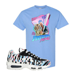 Air Max 95 Korea Tiger Stripe T Shirt | Carolina Blue, Retro Tiger King