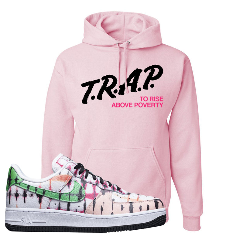 Air Force 1 Low Multi-Colored Tie-Dye Hoodie | Light Pink, Trap To Rise Above Poverty