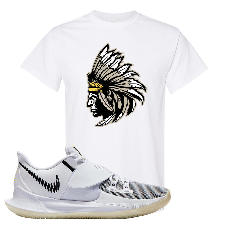 Kyrie Low 3 T Shirt | White, Indian Chief