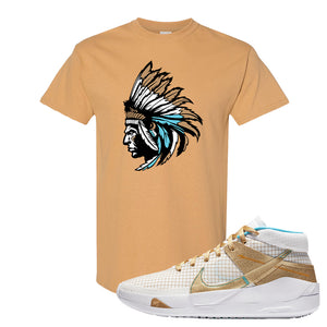 KD 13 EYBL T Shirt | Indian Chief, Old Gold