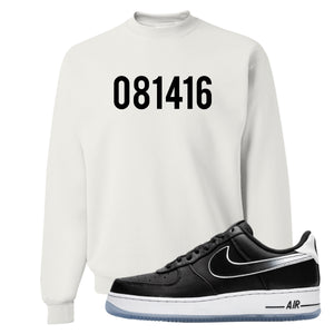 Colin Kaepernick X Air Force 1 Low 081416 White Sneaker Hook Up Crewneck Sweatshirt