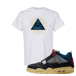 Union LA x Air Jordan 4 Off Noir T Shirt | All Seeing Eye, Ash