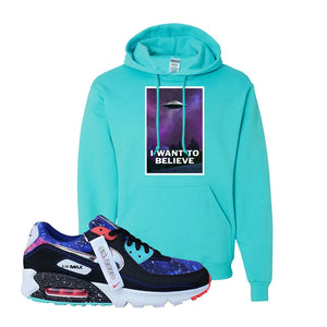 Air Max 90 Galaxy Hoodie | Scuba Blue, I Want to Believe