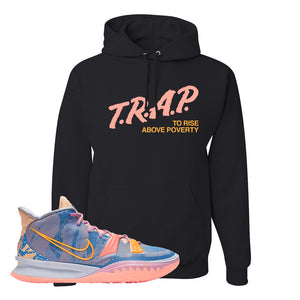 Kyrie 7 Expressions Hoodie | Trap To Rise Above Poverty, Black