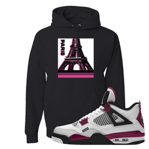 Air Jordan 4 PSG Paname Pullover Hoodie | Paris Pop Art, Black