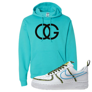 Air Force 1 '07 PRM 'Worldwide Pack' Hoodie | Scuba Blue, OG